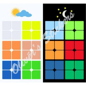 Glow in the dark 2x2x2 6 color Dayan