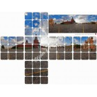 Moscow Red square Panorama 3x3x3 sticker
