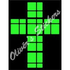 Glow in the dark 2x2x2 Mirror