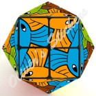 Escher Fish Rainbow cube