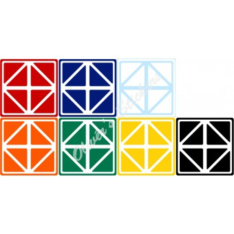 Helicopter cube (60mm) stickers