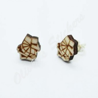 Sq-1 Wooden Earring