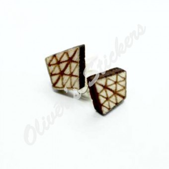 Pyraminx Wooden Earring