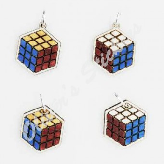 Painted Cube Pendant