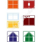 YJ 2x2x2 cube house colored