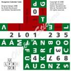 Calendar cube Hungarian